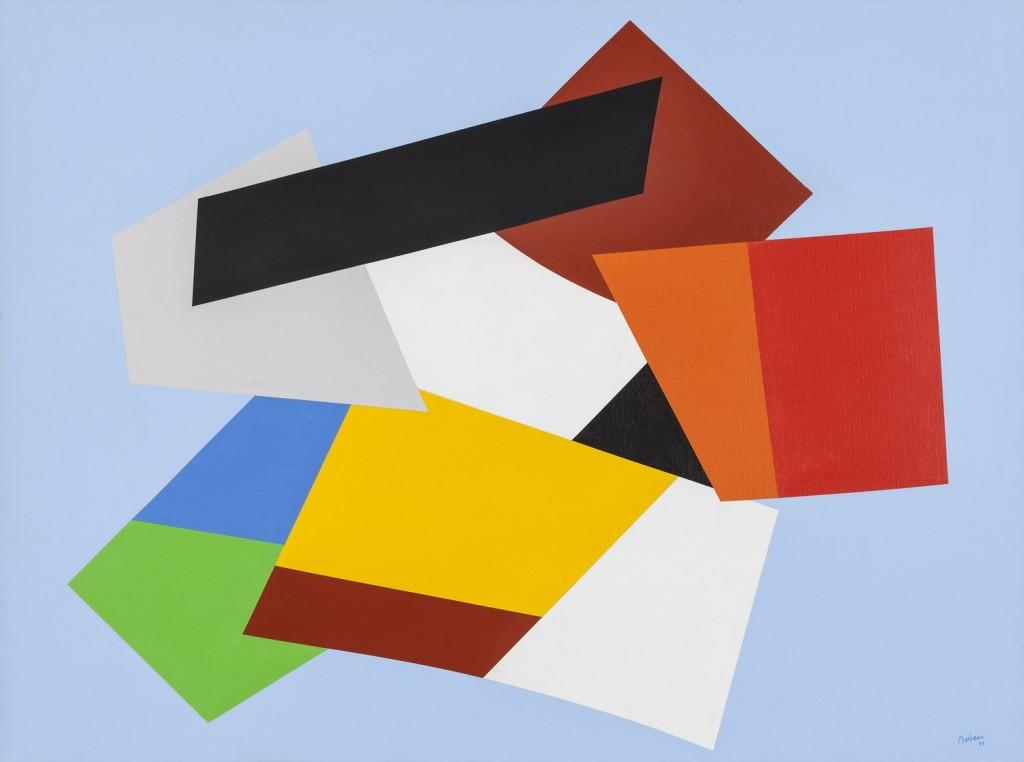 Les abris du désir, 1999, Acrylique sur toile, 97 x 130 cm, Guillaume D. Cyr